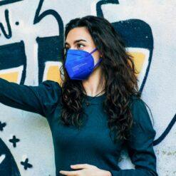 FFP2, Maske, ffp2 maske, blau, blue